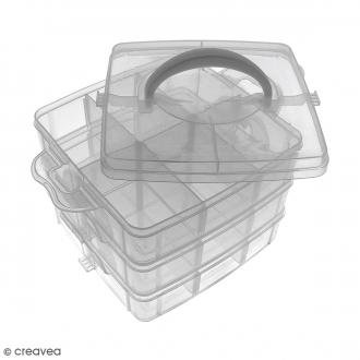 Boîte de rangement à étages - 17 x 15 x 12,5 cm - 18 cases