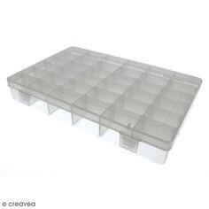 Boîte de rangement en plastique - 27,5 x 18 x 4,5 cm - 36 boîtes