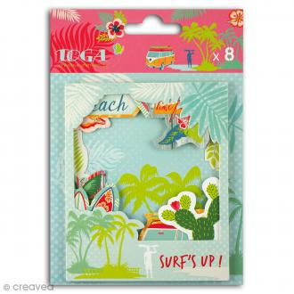 Die cut Toga - Polaroid vacances Waikiki Beach - 8 pcs