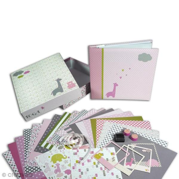 Kit scrapbooking Scrapbox - Naissance Fille - Photo n°2