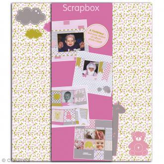 Kit scrapbooking Scrapbox - Naissance Fille