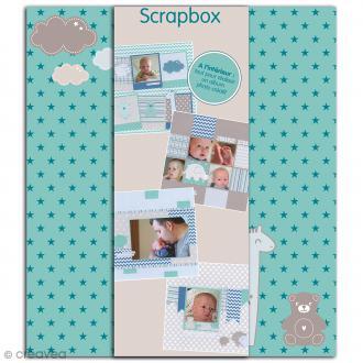 Kit scrapbooking Scrapbox - Naissance Garçon