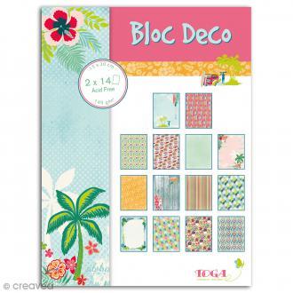 Bloc Deco Toga - Waikiki Beach - 15 x 20 cm - 28 feuilles