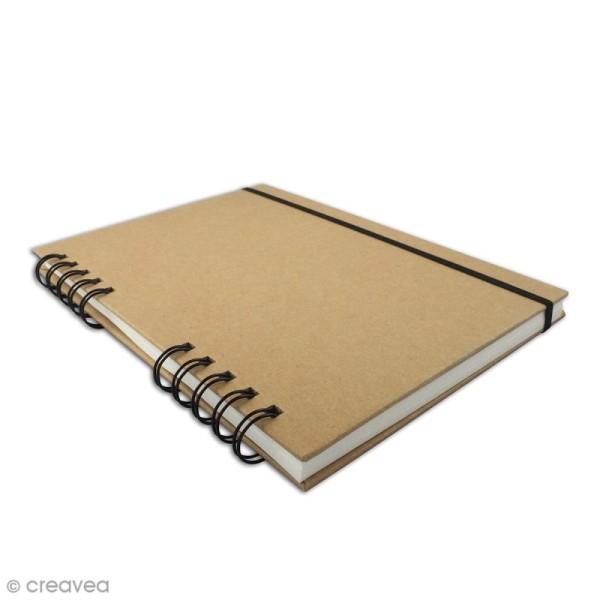 Sketchbook kraft à décorer 15 x 21 cm - 80 pages de dessin blanches - Photo n°2