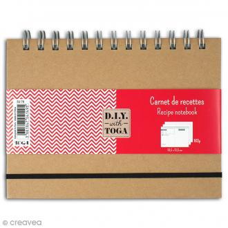 Carnet de recettes à décorer 18,5 x 13,5 cm - 160 pages
