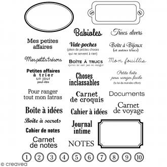 Tampons transparents Artemio - Motifs Etiquettes - 35 pcs