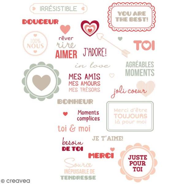 Tampons transparents Artemio - Motifs Amour - 34 pcs - Photo n°2