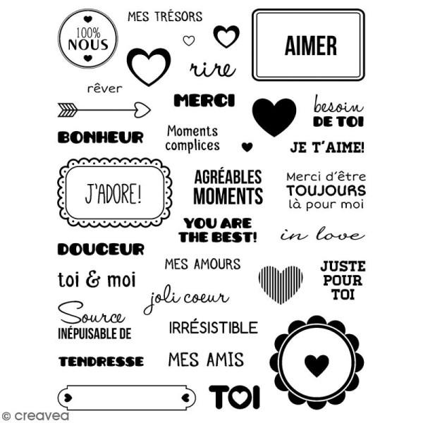 Tampons transparents Artemio - Motifs Amour - 34 pcs - Photo n°1