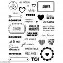Tampons transparents Artemio - Motifs Amour - 34 pcs