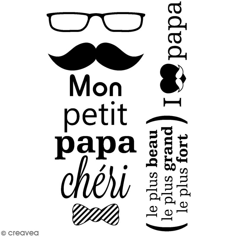 Tampons transparents Artemio - Motifs Papa chéri - 3 pcs - Photo n°1