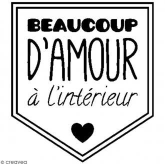 Kit tampon clear et bloc acrylique - Beaucoup d'amour - 3,5 x 3 cm