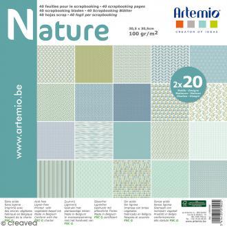 Papier scrapbooking Artemio - Nature - 30,5 x 30,5 cm - 40 feuilles