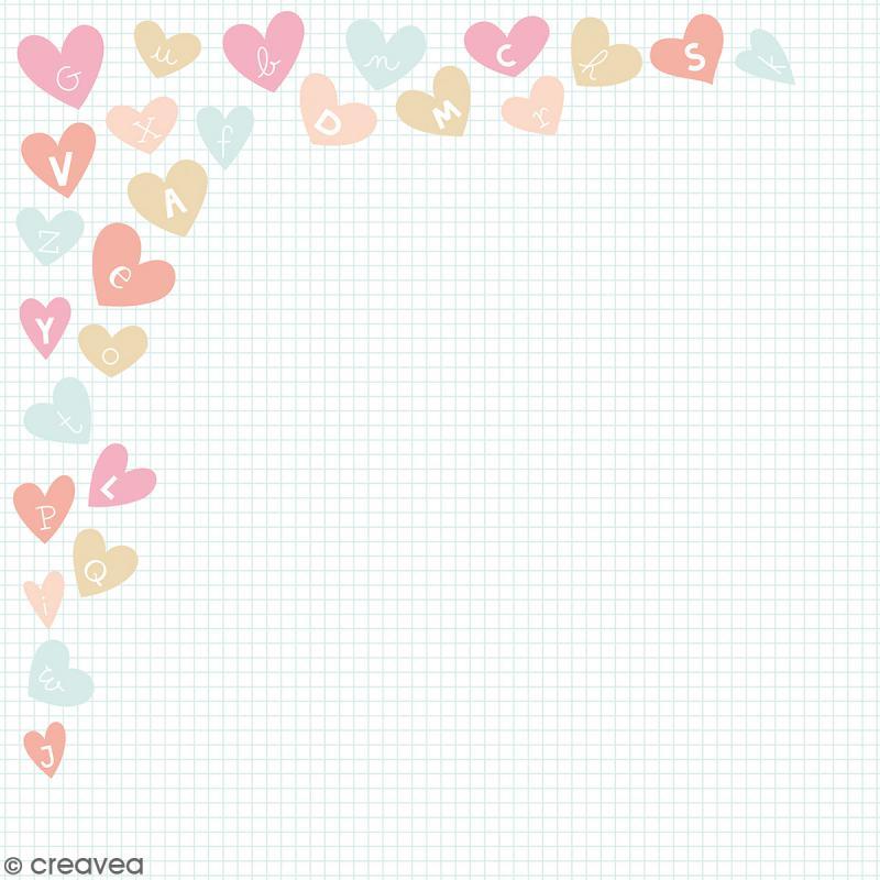 Papier scrapbooking Artemio - Love Me Tender - 30,5 x 30,5 cm - 180 feuilles - Photo n°2