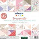 Papier scrapbooking Artemio - Love Me Tender - 30,5 x 30,5 cm - 180 feuilles