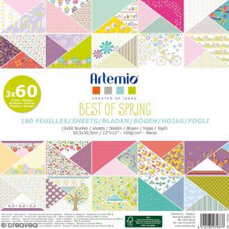 Papier scrapbooking Artemio - Best of Spring - 30,5 x 30,5 cm - 180 feuilles