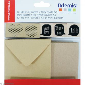 Kit mini cartes kraft - 27 pcs