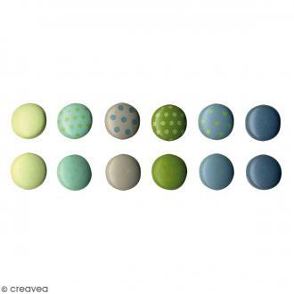 Attaches parisiennes mini rondes - Nature - 60 pcs