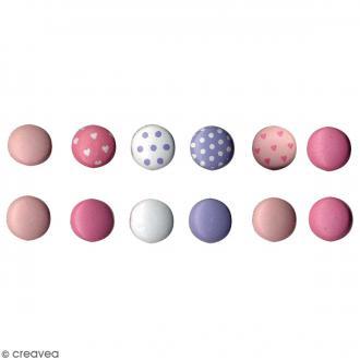 Attaches parisiennes mini rondes - Baby Girl - 60 pcs