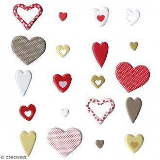 Attaches parisiennes fantaisies Love - 20 pcs