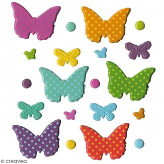 Attaches parisiennes fantaisies Papillons - 20 pcs