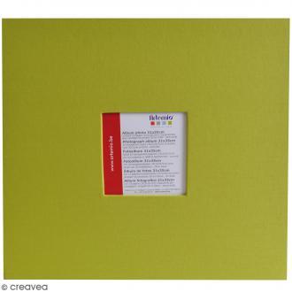 Album scrapbooking - Vert olive - 31 x 35 cm