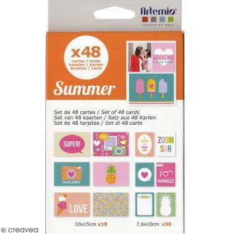 Assortiment de cartes pour project life - Memory Summer - 48 pcs