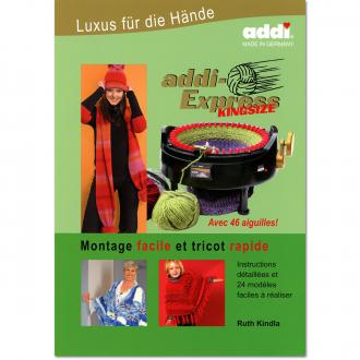 Livre tricotin Addi Express Kingsize - 24 modèles faciles à réaliser - 56 pages