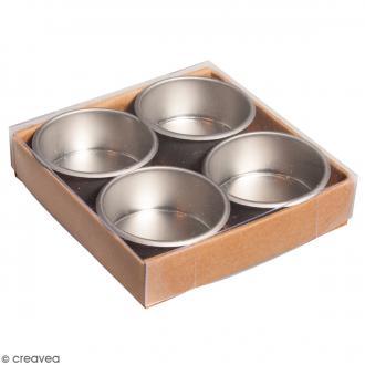 Bougeoirs en métal 4,1 cm - 4 pcs