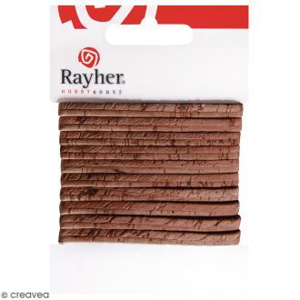 Ruban en liège brun noisette - 5 mm x 100 cm