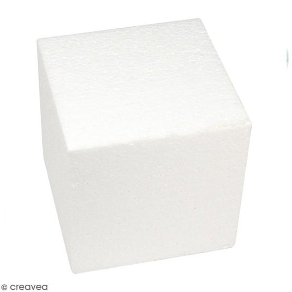 Cube en polystyrène - 15 cm - Photo n°1