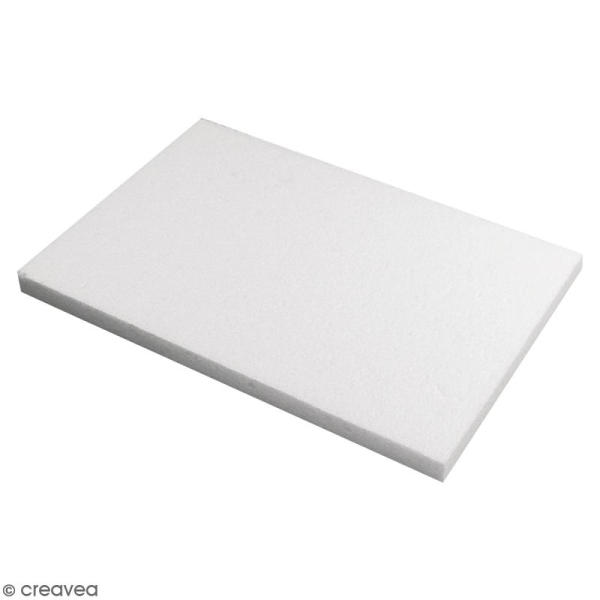 Plaque en polystyrène - 20 x 30 x 2 cm - Photo n°1