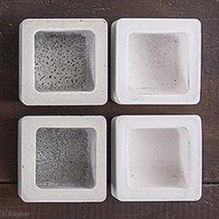 Moule pour b ton cr atif carr 5 5 cm moule d co pour b ton cr atif creavea - Moule pour beton creatif ...