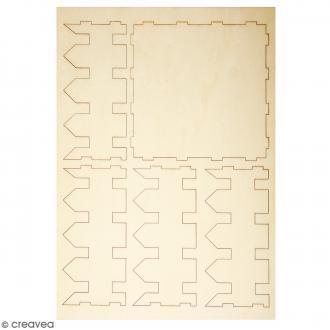 Kit en bois - Clôture de 13 x 13 cm à monter et à décorer