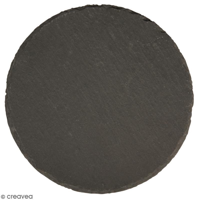 plaque ardoise ronde 15 cm marque place ardoise creavea. Black Bedroom Furniture Sets. Home Design Ideas
