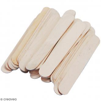 Bâtonnets en bois - 15 x 2 cm - 36 pcs