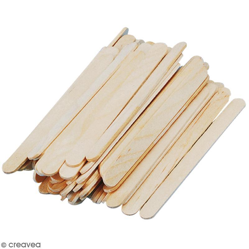 Bâtonnets en bois - 11 x 1,1 cm - 72 pcs - Photo n°1