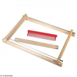 Kit métier à tisser pour enfant - 18,5 x 29 cm