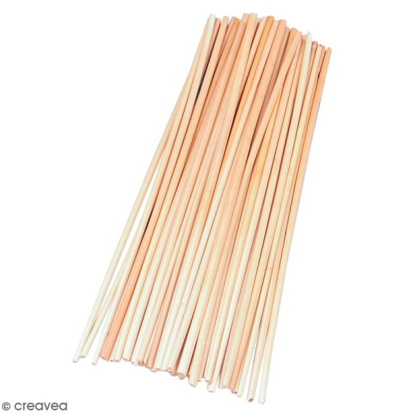 Pailles naturelles Non-blanchies en osier - 22 cm - 50 pcs - Photo n°1