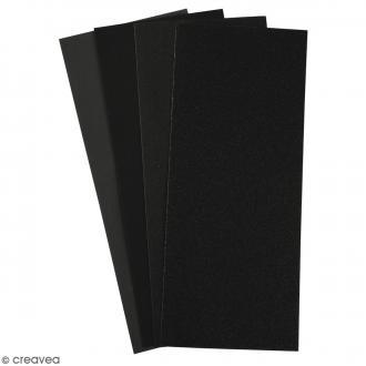 Papier de verre émeri - 11,5 x 28 cm - 5 feuilles