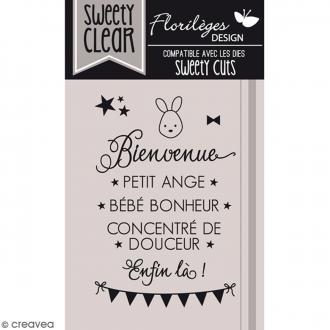 Tampons Sweety clear Bienvenue bébé - De 0,5 à 4,5 cm - 9 pcs