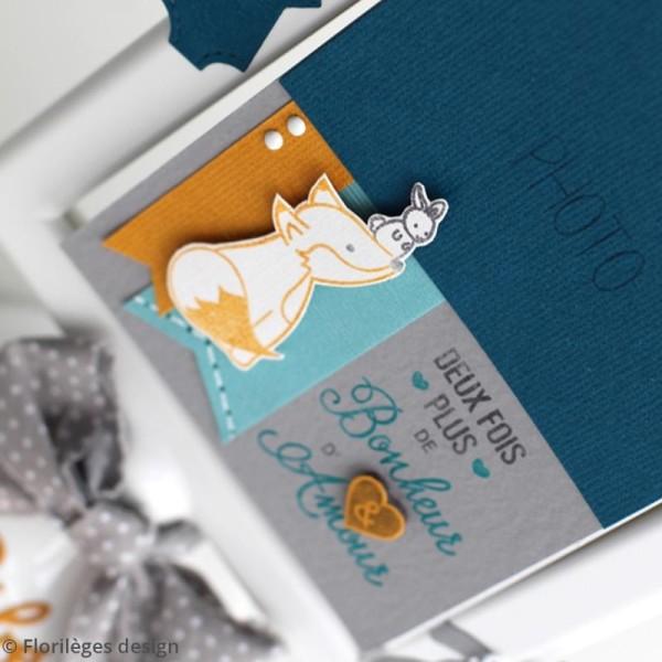 Tampon bois Plus de bonheur et d'amour - 8 x 5,8 cm - Photo n°3