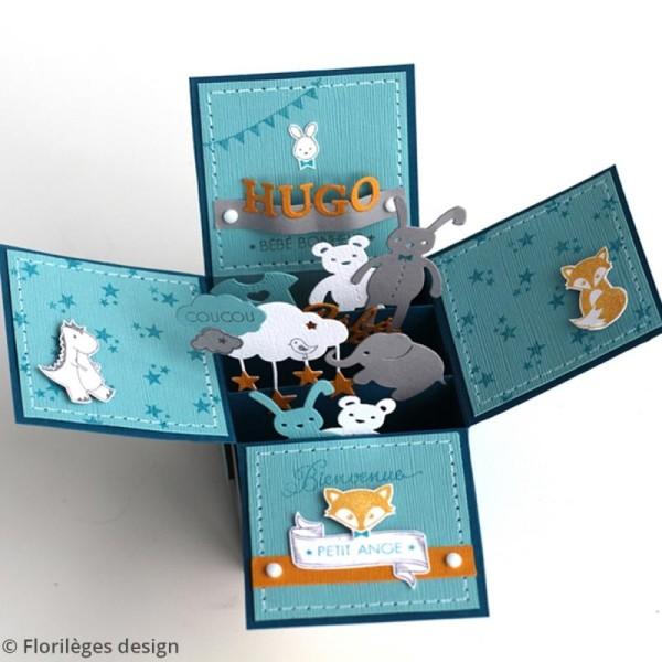 Tampon bois Plus de bonheur et d'amour - 8 x 5,8 cm - Photo n°5