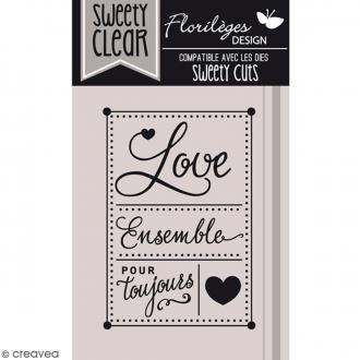 Tampon Sweety clear Love pour toujours - 6,5 x 4,5 cm - 1 pce