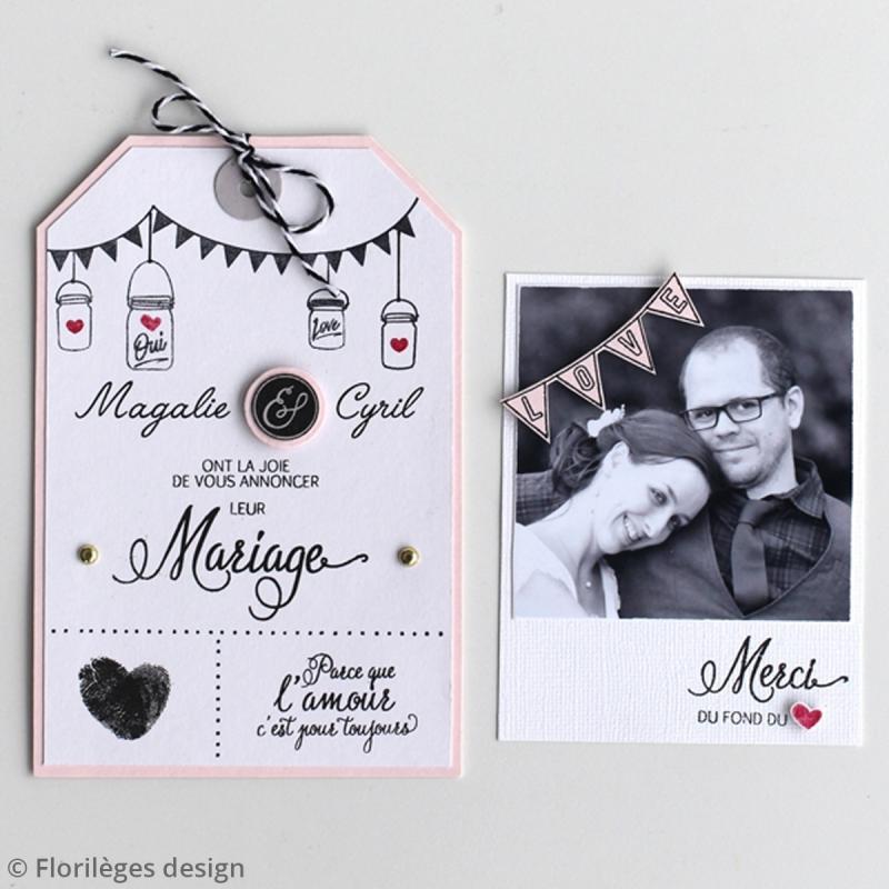 Tampons Sweety clear Notre mariage - De 1 à 6 cm - 16 pcs - Photo n°2
