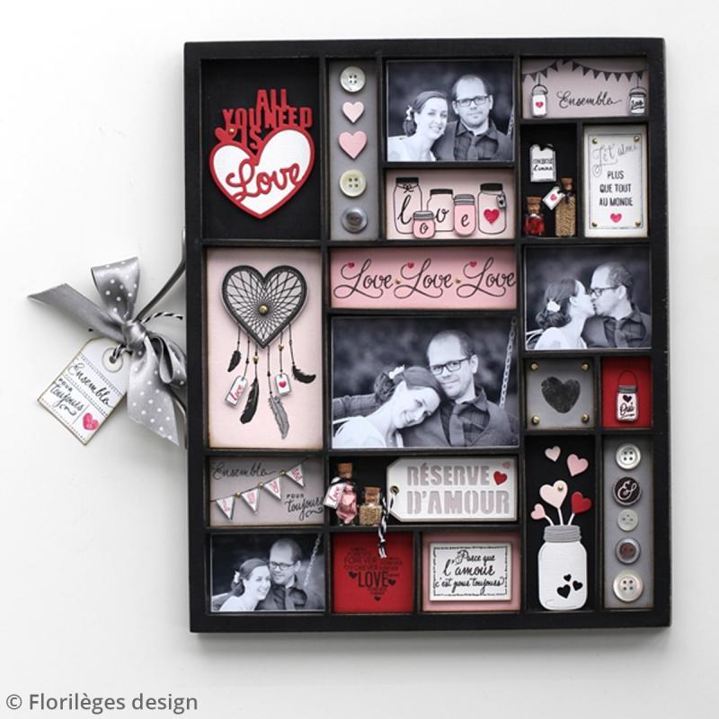 Tampons Sweety clear Notre mariage - De 1 à 6 cm - 16 pcs - Photo n°4