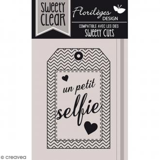Tampon Sweety clear Petit selfie - 6,5 x 4,5 cm - 1 pce