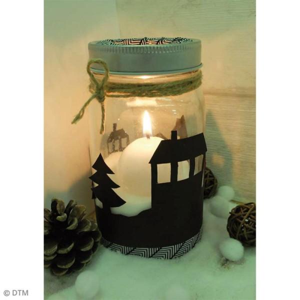 Bocal Mason Jar en verre avec poignée et couvercle - Classique - 375 ml - Photo n°2