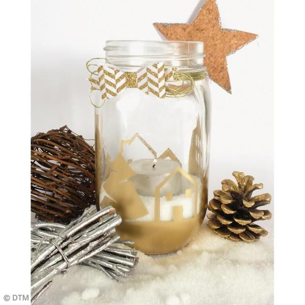 Bocal Mason Jar en verre avec poignée et couvercle - Classique - 375 ml - Photo n°3