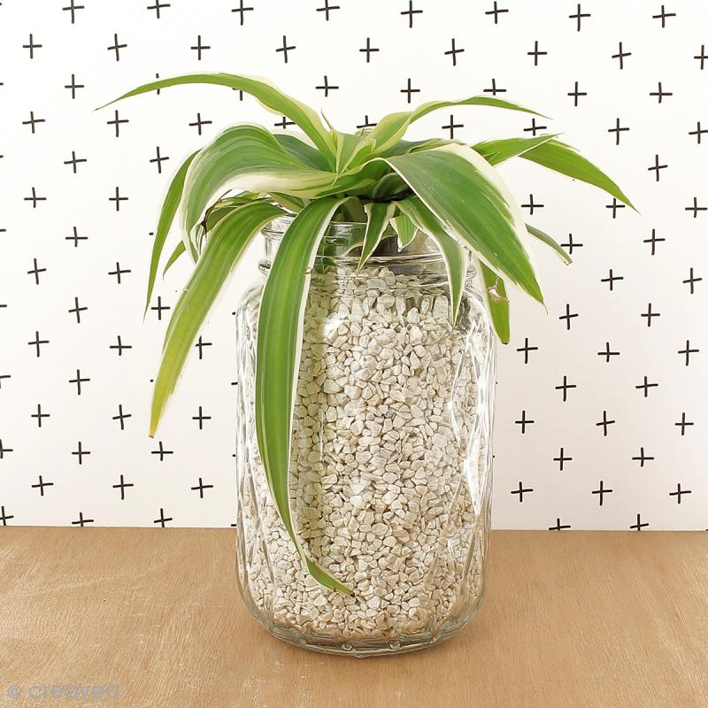 Bocal Mason Jar en verre avec couvercle - Diamant - 375 ml - Photo n°2