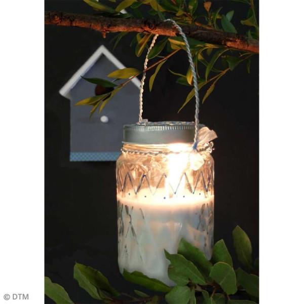 Bocal Mason Jar en verre avec couvercle - Diamant - 375 ml - Photo n°4